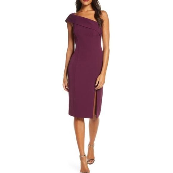 Eliza J Dresses & Skirts - NWT Eliza J Plum Off The Shoulder Dress